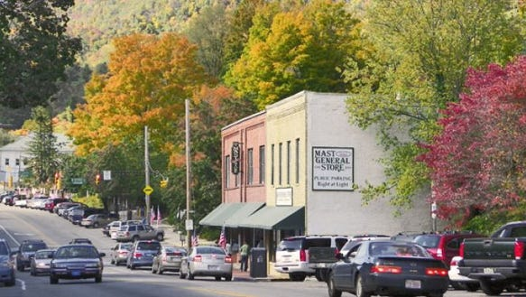 A view of downtown Boone.
