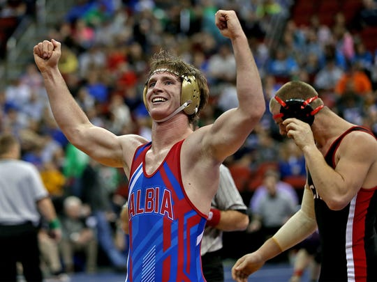 Albia wrestler Carter Isley is a state champ who committed