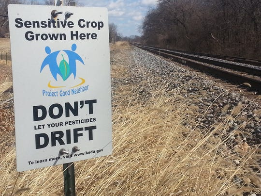 Herbicide drift sign