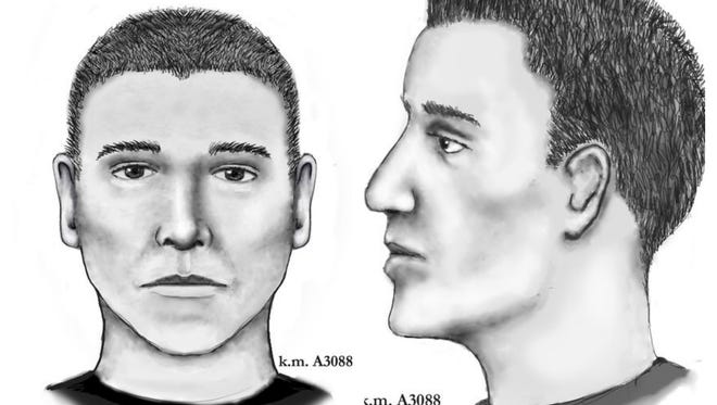 Phoenix police released these sketches of the man believed to be the 'serial street shooter.'