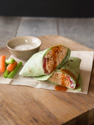 Spicy Pulled Chicken Wraps