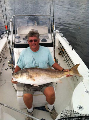 Art Thinguldstad caught this red drum west of Hampton Shoals at the mouth of Upper Broad Creek and Fairfield Harbour.
