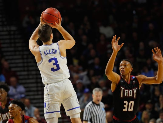 Grayson Allen shows top form with five threes in Duke's easy win over