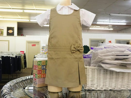School uniforms are sold year-round at Village Boutique