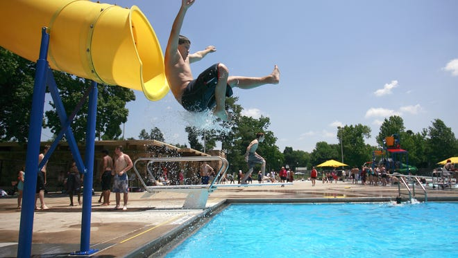 The Grant Beach Park Pool and other Springfield public pools have features including a splash-play structure, slides and lap lanes.