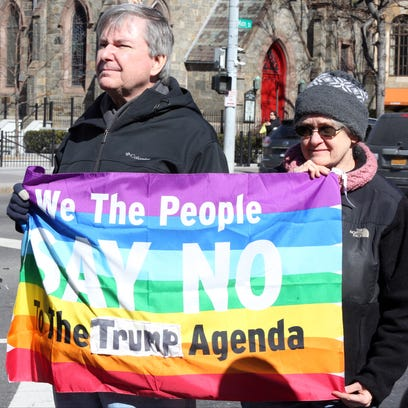 Local residents gathered Monday to rally at Renaissance