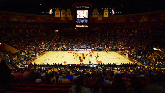 A view Wells Fargo Arena before a 2016 game between ASU and USC.