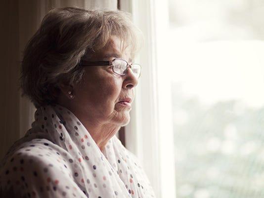 Depression Of A Senior Woman