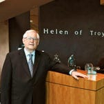 Gerald Rubin posed in the lobby of Helen of Troy's El Paso headquarters in 2011.