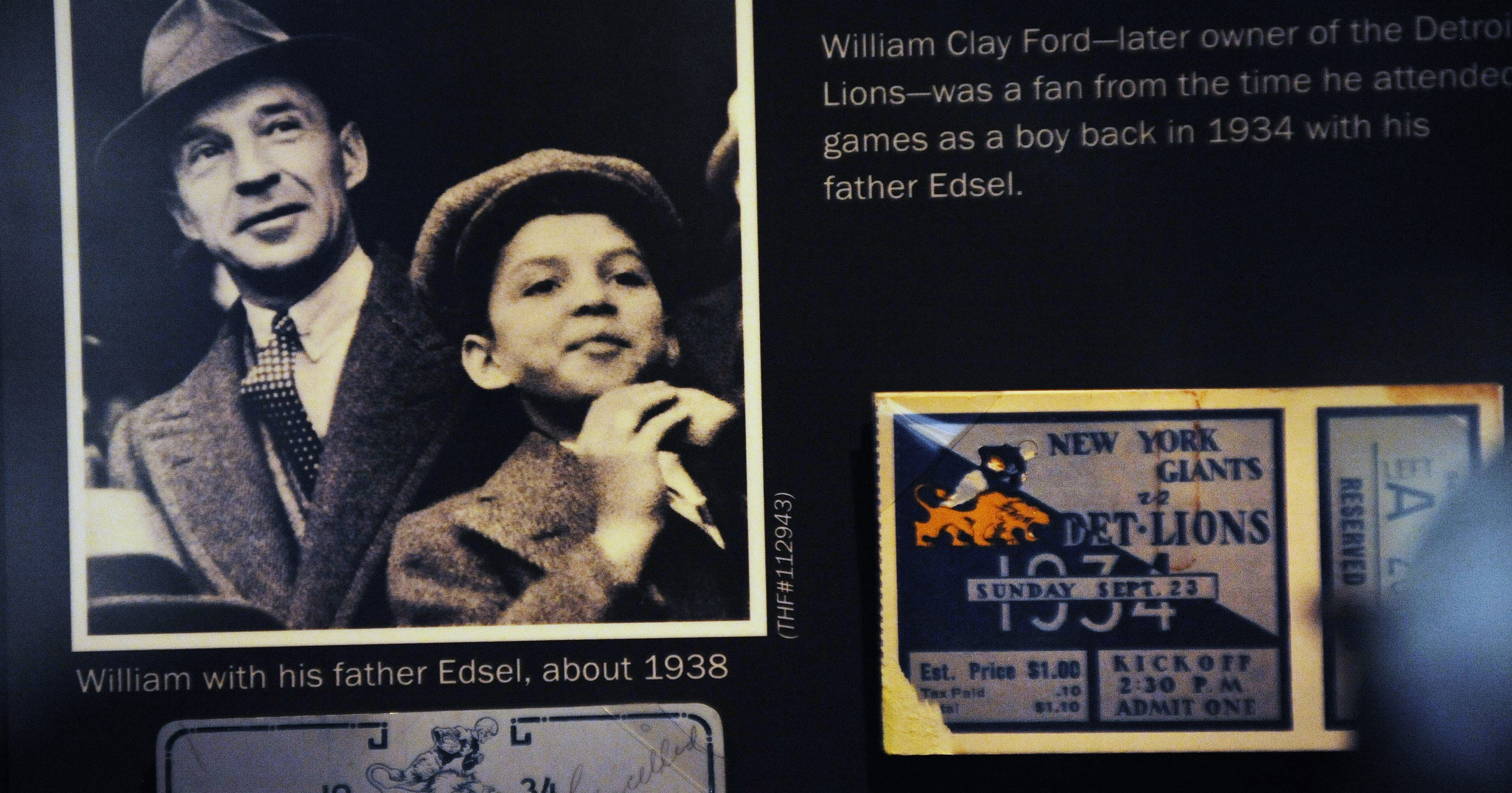 Image result for william clay ford buys detroit lions photo