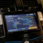 This information center on the car lets the user know a variety of information pertaining to power usage on the vehicle.