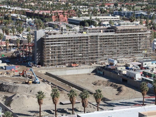 Construction continues on the Kimpton Hotel in the downtown revitalization project in Palm Springs, February 14, 2017.