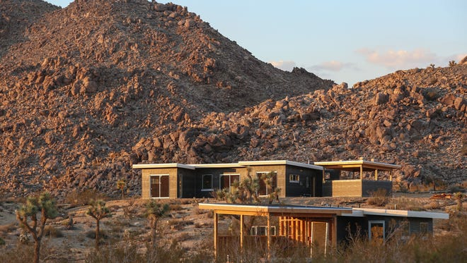 New homes are being constructed in the highly coveted area just outside the entrance to Joshua Tree National Park, September 28, 2016.