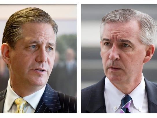 Former Montgomery County DA Bruce Castor, left, and