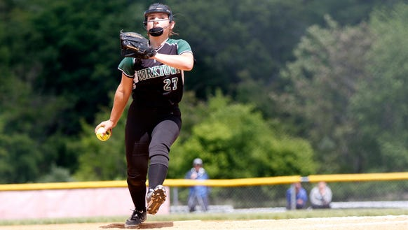 Yorktown's Erica Salveggi winds up against Binghamton