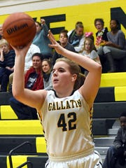 Gallatin High senior forward Keile Hale elevates to shoot a first-quarter jump shot.