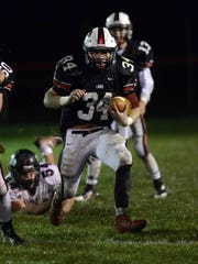 Liberty Union running back Braden Powers was selected