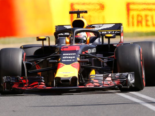 Red Bull driver Daniel Ricciardo of Australia drives his car during the first practice session at the Australian Formula One Grand Prix in Melbourne, Friday, March 23, 2018. The first race of the 2018 seasons is on Sunday. (AP Photo/Asanka Brendon Ratnayake)