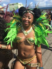 Nikki Phillip of Yonkers is shown celebrating Carnival last week in Antigua in a photo taken by her cousin, Tashia Phillip. She was later killed when struck by a truck at the festival.