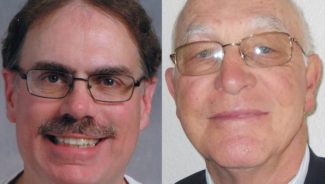 Dean Dekker, left, and Henry Nelson are candidates in an April 4 election to represent Sheboygan's sixth district on the Common Council.