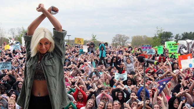 "Jax during her ""American Idol"" hometown visit May 1 in East Brunswick."