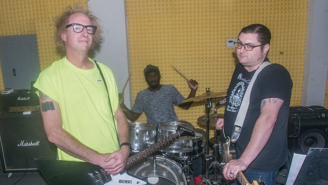 The punk rock band Abusements are made up of DJ Fake Name on lead guitar and vocals, Stancy Turner on drums and Chris Eckols on bass.