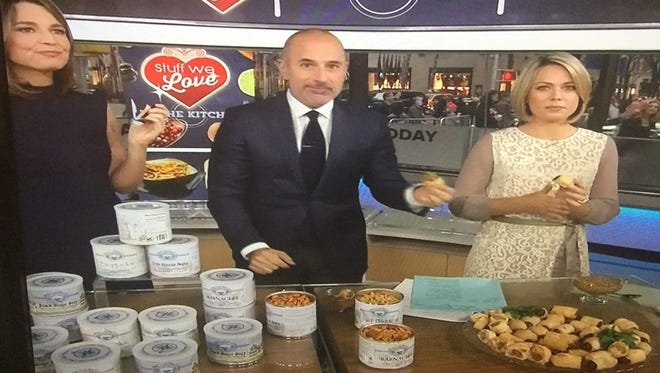 Blue Crab Bay Co.'s Barnacle Snack Mix was among products highlighted on an NBC Today Show segment aired on Thursday, Nov. 12, 2015.