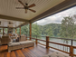 The back porch at 115 Wood Sage Court in Sunset. Listed
