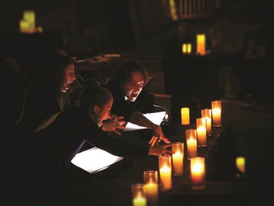 "Actors from Kentucky Shakepeare's candlelight reading of ""Macbeth"" in October. Actors will do it again this month at Locust Grove."