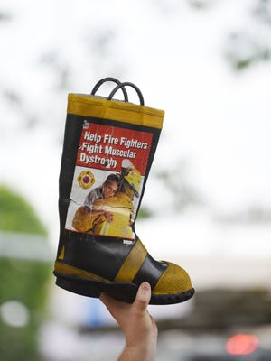 Salem firefighters annually collect donations for the Fill the Boot campaign to support the Muscular Dystrophy Association.