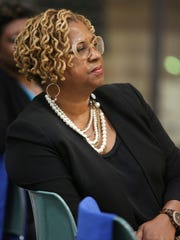 The News Journal Wilmington City Council President Hanifa Shabazz takes part in the listening tour conducted by city officials.