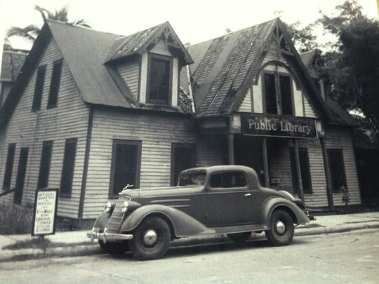 Photo of Heitman home, circa 1930, which was converted to a public library.