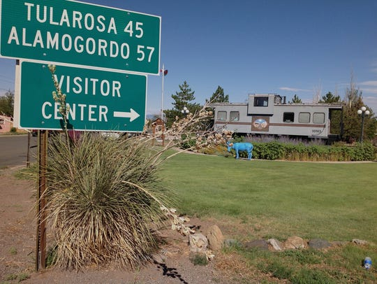 When you visit in Carrizozo, stop by the visitors center