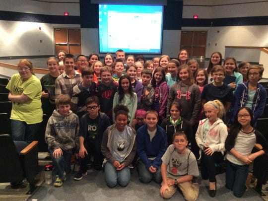 Fifty students participated in the D.C. Everest Middle School Mock Newbery Reading Group.