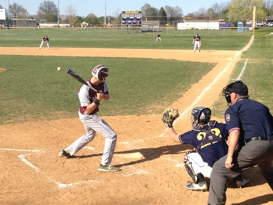 Shippensburg's Teagan Staver waits for a pitch in a