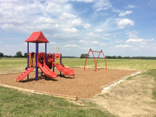 Playground completed in New Bloomington.