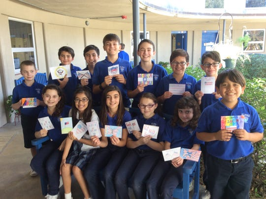 "Fifth grade students from St. Pius X Catholic School created ""Get Well"" cards for former U.S. President George H.W. Bush as he was recently admitted to Houston hospital where he is being treated for pneumonia."