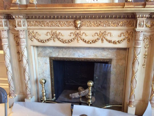 The fireplaces at Mansion in May are elegant.