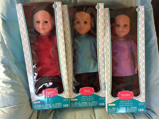 These are three of the Modern Girl dolls donated by
