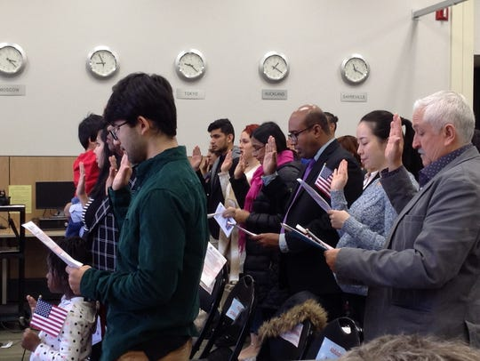 The Sayreville Public Library hosted a Naturalization