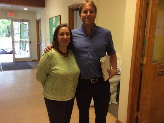 Paola Stevens, Director of Interfaith RISE, gets a