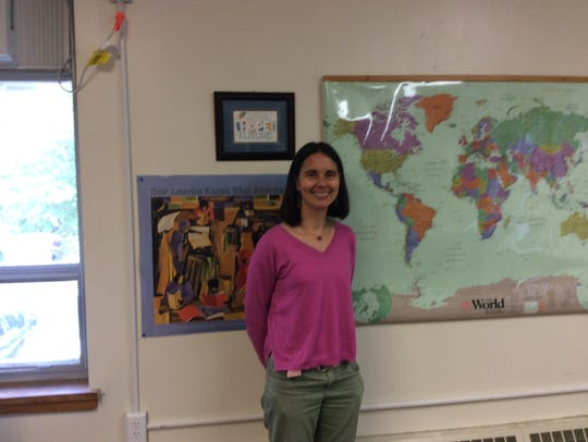 Wendy Jaeger is the English-as-a-Second Language teacher