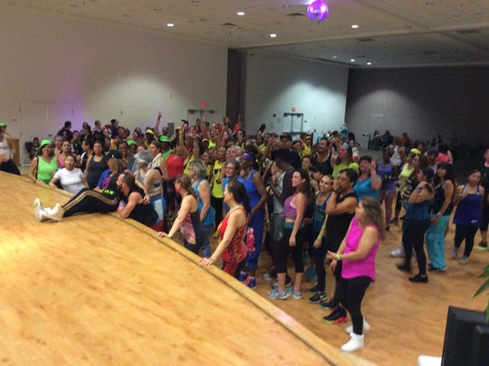 More than 270 participants danced to a Caribbean beat at PART's first Zumbathon.