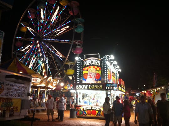 The Neshoba County Fair's midway offers rides, games