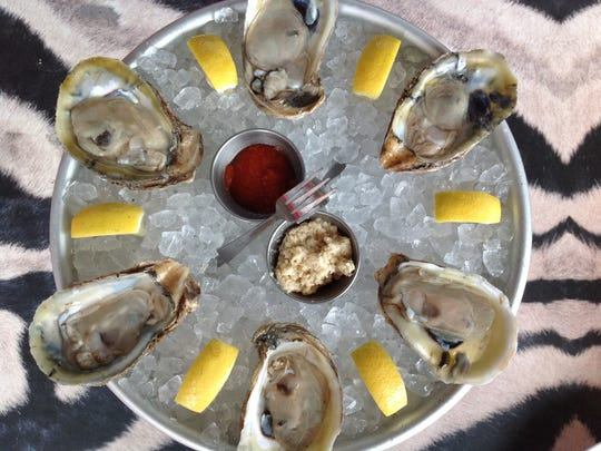 If you like oysters on the half-shell, you can select a variety at the oyster bar at Touch which also serves other chilled seafood.