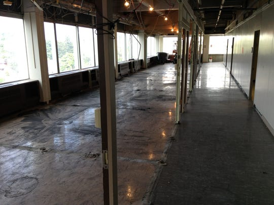 A look inside the fourth floor of the former Kodak Building 81 that will become the AIM Photonics' Testing, Assembly and Packaging facility on Lake Avenue in Rochester.