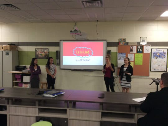 D.C. Everest business management students present proposals for using vacant space in the Wausau Center mall.