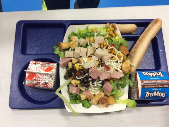 Students have opportunities to create balanced meals for themselves.