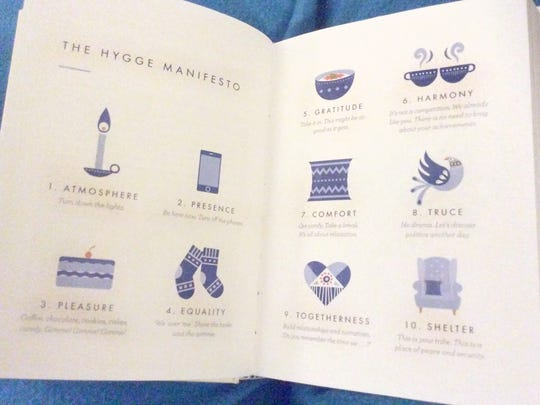 """The Hygge Manifesto. From """"The Little Book of Hygge - the Danish way to live well"""" by Meik Wiking"""