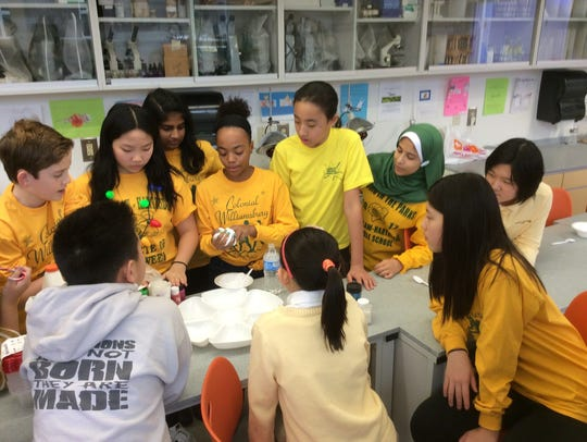 Middle School students engaged in a variety of creative